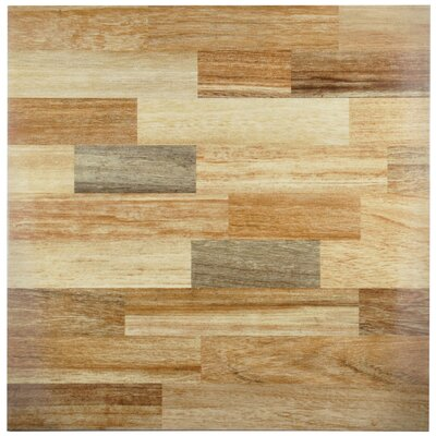 Vaquero 17.75 x 17.75 Ceramic Wood Look/Field Tile in Beige