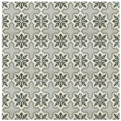 Annata 9.75 x 9.75 Porcelain Field Tile in Gray