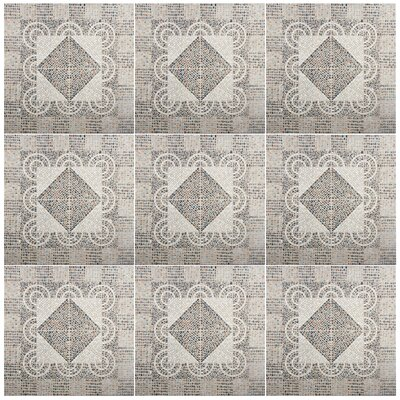 Denarius 20.25 x 20.25 Ceramic Pebble Tile in Beige