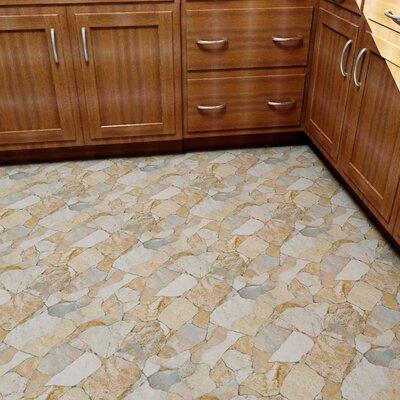 Atticas Random Sized Ceramic Splitface Tile in Beige
