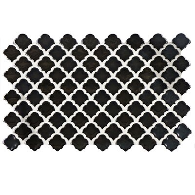 Abelardo 5.5 x 9 Porcelain Mosaic Tile in Black