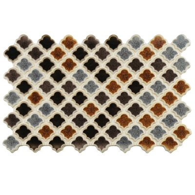 Abelardo 5.5 x 9 Porcelain Mosaic Tile in Black/Gray