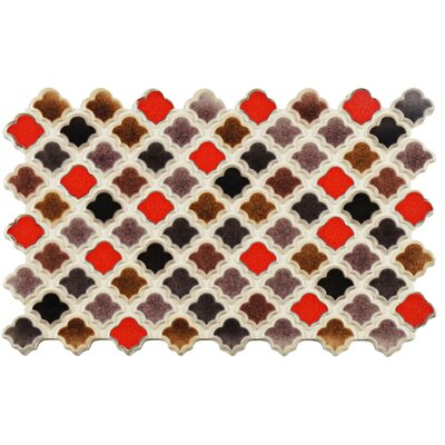 Abelardo 5.5 x 9 Porcelain Mosaic Tile in Red/Brown