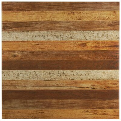 Canadia 17.75 x 17.75 Ceramic Wood Look Tile in Brown/Tan