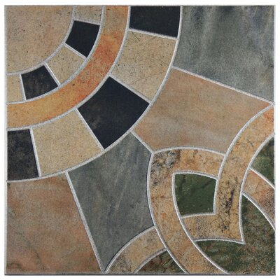 Cartamo 17.75 x 17.75 Ceramic Field Tile in Azul
