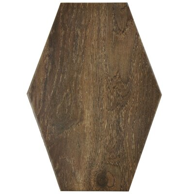 Egurra 8.38 x 11.75 Porcelain Wood Look Tile in Brown