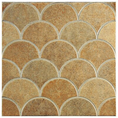Escame 13.13 x 13.13 Ceramic Field Tile in Beige/Orange