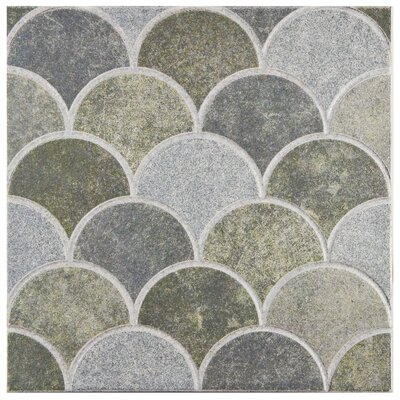 Escame 13.13 x 13.13 Ceramic Field Tile in Sage