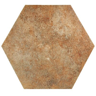 Lincoln 14 x 16 Porcelain Field Tile in Orange