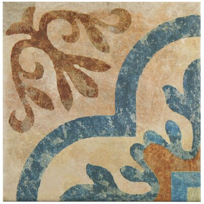 Lincoln 8.75 x 8.75 Porcelain Field Tile in Brown/Blue