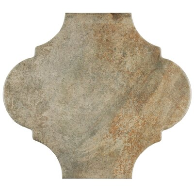 Mezcla 10.38 x 11.38 Porcelain Field Tile in Provenzal Iron