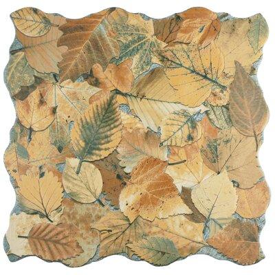 Piel 17.75 x 17.75 Porcelain Field Tile in Ocre