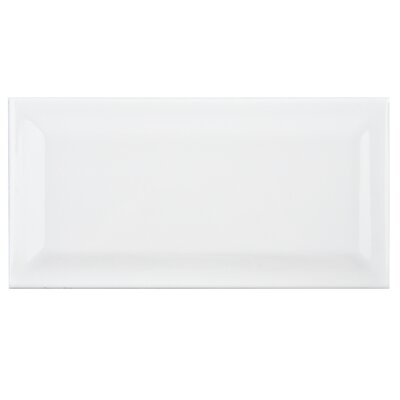 Prospect 3 x 6 Beveled Ceramic Subway Tile in Glossy White