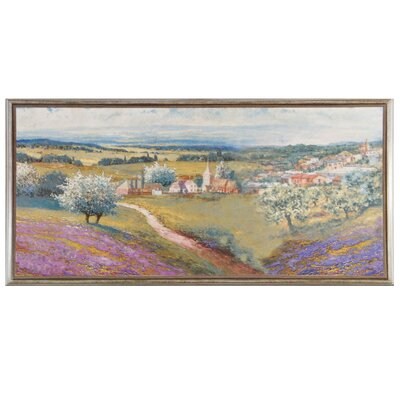 Renoir 9.88 x 19.63 Ceramic Decorative Mural Tile in Purple/Green