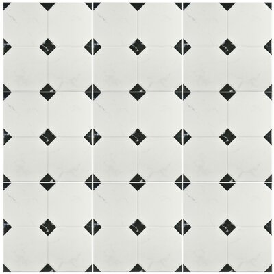 Valencia 13.12 x 13.12 Ceramic Field Tile in Marbleized Gray