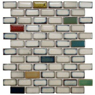 Essentia 0.91 x 1.89 Porcelain Mosaic Tile in Cascade
