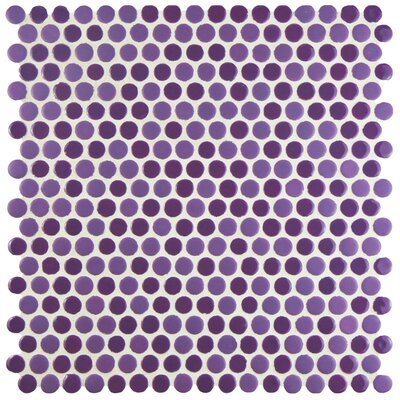 Astraea 0.62 x 0.62 Porcelain Mosaic Tile in Purple