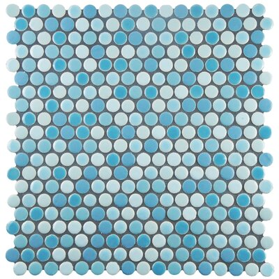 Astraea 0.62 x 0.62 Porcelain Mosaic Tile in Oceano