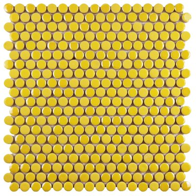 Tucana 0.59 x 0.59 Porcelain Mosaic Tile in Yellow