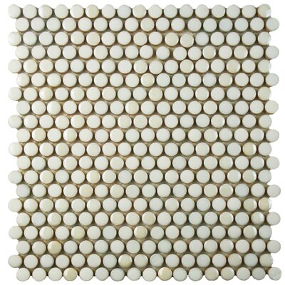 Tucana 0.59 x 0.59 Porcelain Mosaic Tile in White