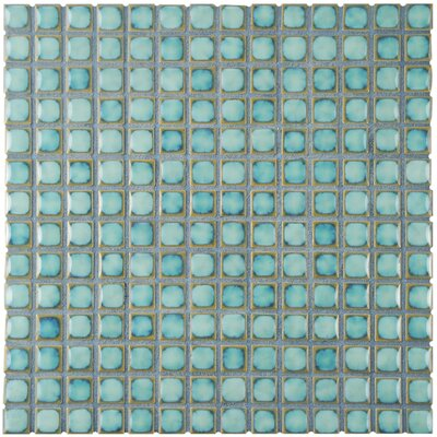 Morgan 0.75 x 0.75 Porcelain Mosaic Tile in Marine