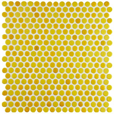 Astraea 0.62 x 0.62 Porcelain Mosaic Tile in Yellow