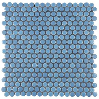 Astraea 0.62 x 0.62 Porcelain Mosaic Tile in Sky