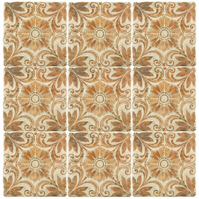 Diego 7.75 x 7.75 Ceramic Field Tile in Matte Brown
