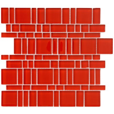 Sierra Random Sized Glass Mosaic Tile in Magic Carnelian