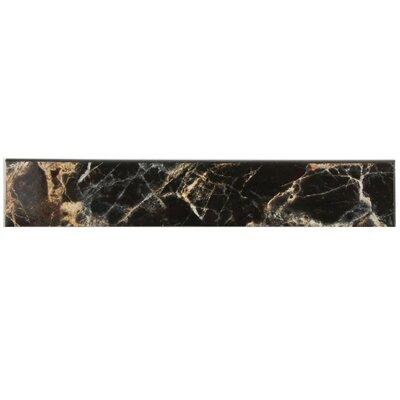 Elypse 17.75 x 3.25 Bullnose Tile Trim in Negro