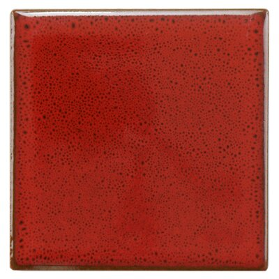 Essentia 4 x 4 Porcelain Field Tile in Scarlet