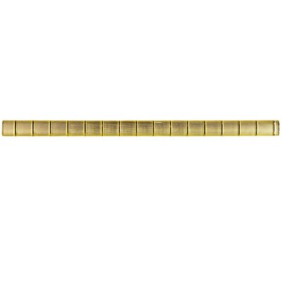 Glastelle 11.75 x 0.63 Glass Over Porcelain Tile Trim in Foil Golden Bamboo