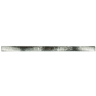 Glastelle 11.75 x 0.63 Glass and Porcelain Specialty Piece Tile Trim in Foil Silver