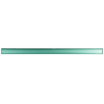 Glastelle 11.75 x 0.63 Glass Over Porcelain Trim Pencil Liner Tile in Pearl Mint