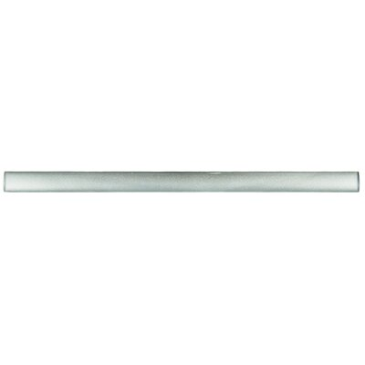 Glastelle 11.75 x 0.63 Glass Over Porcelain Tile Trim in Pearl Silver