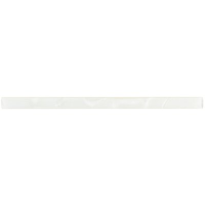 Glastelle 11.75 x 0.63 Glass and Porcelain Specialty Piece Tile Trim in Phantom White