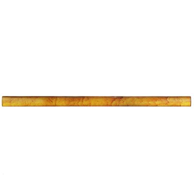 Glastelle 11.75 x 0.63 Glass and Porcelain Specialty Piece Tile Trim in Watercolor Goldenrod