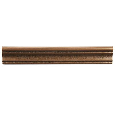 Milton 12 x 2 Counter Rail Tile Trim in Onda Bronze