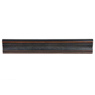Milton 12 x 2 Counter Rail Tile Trim in Onda Venetian Bronze