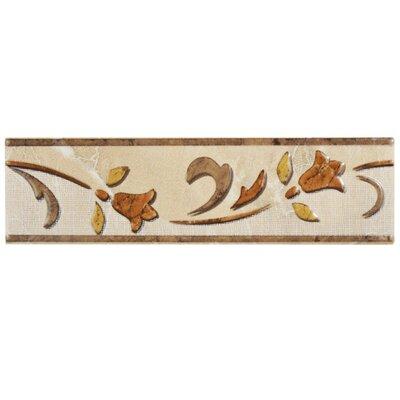 Playa 11.75 x 3.125 Ceramic Wall Trim Listello/Border Tile in Beige