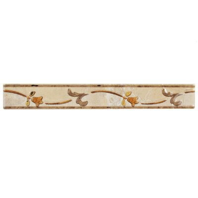 Playa 11.75 x 1.5 Ceramic Listello Wall Trim Listello/Border Tiles in Beige