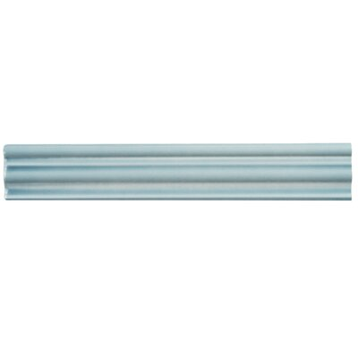 Tivoli 12 x 2 Ceramic Counter Rail Tile Trim in Aqua