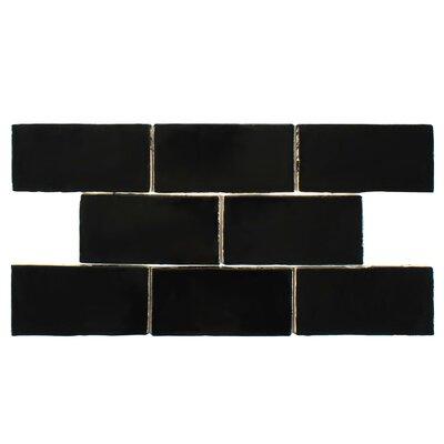 Tivoli 3 X 6 Ceramic Subway Tile in Nero