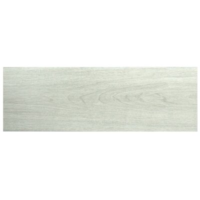 Sebastian 7.88 x 23.63 Ceramic Wood Tile in Gray