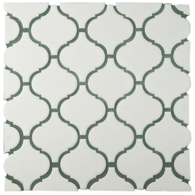 Retro Lantern 2.87 X 3.06 Porcelain Mosaic Tile in Matte White
