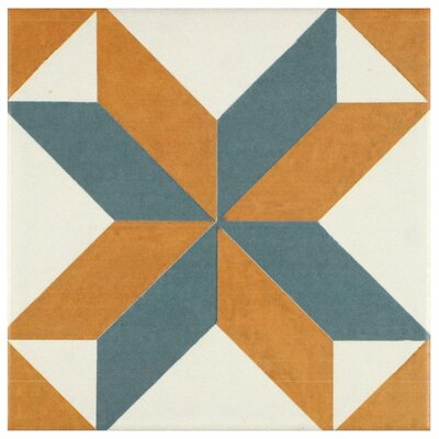 Revive 7.75 x 7.75 Ceramic Floor and Wall Tile in Pattern
