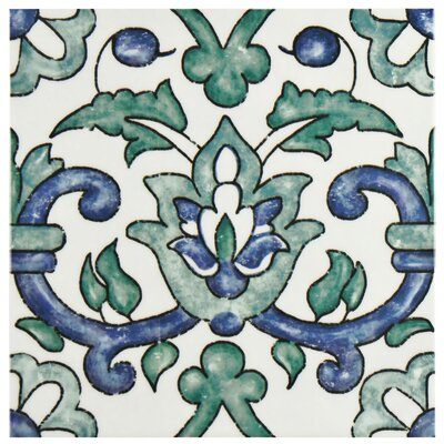 Avaricon 7.875 x 7.875 Ceramic Field Tile in Blue/Green