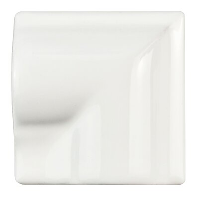 Guadeloupe 2 x 2 Ceramic Moldura Corner Trim Wall Chair Rail in Blanco