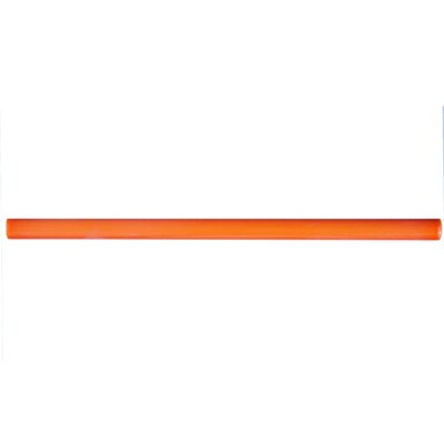 Bira 11.75 x 0.5 Ceramic Cana Cigarro Trim Liners/Pencil Liners Tile in Orange