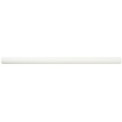 Bira 11.75 x 0.5 Ceramic Cana Cigarro Trim Liners/Pencil Liners Tile in White